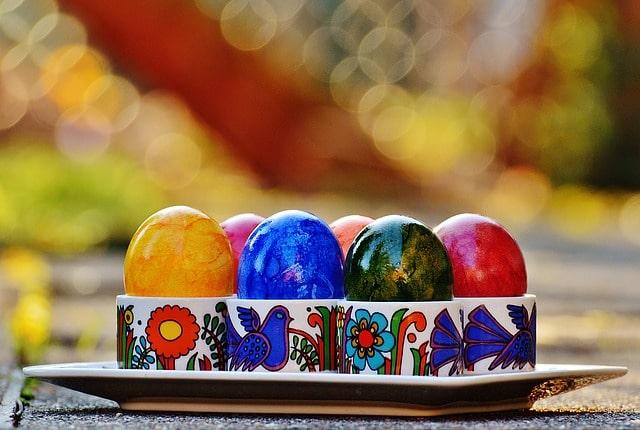 カラフルな卵