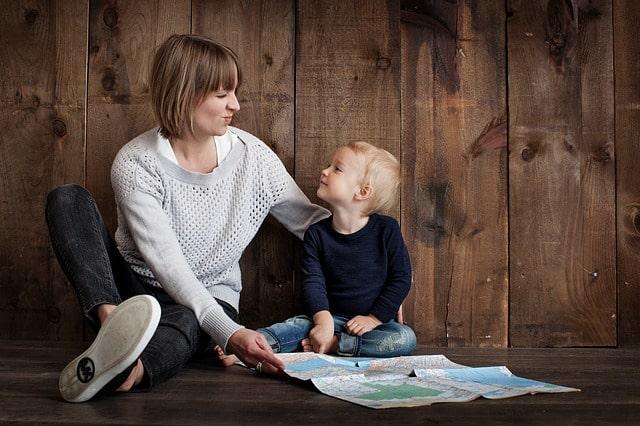 女性と子供